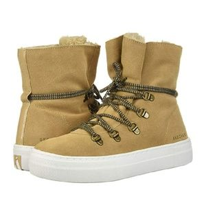 Skechers Alba High Hugs Tall Suede Lace Up Boots
